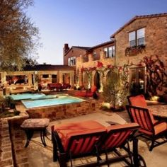 These people are really roughing it! Creating The Ideal Outdoor Living Space