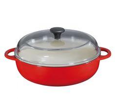 Küchenprofi Wysoka patelnia z pokrywą 28 cm, czerwona | MALL.PL