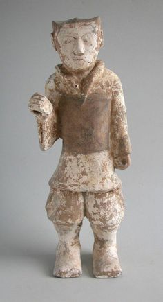 LARGE Chinese Western Han Dynasty Painted Pottery Soldier ( 206 BC - AD 8 )