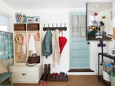 Provided By: Woman's Day 8 Brilliant Ideas for Organizing Your Mudroom Learn the best strategies for keeping your entryway pretty yet prac...