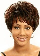 Chic 8Inch Remy Human Hair Wispy Bangs Full Lace Wig