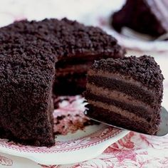 Chocolate blackout cake >> this looks divine!