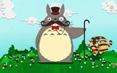 Fancy Totoro and friends by MaeMaeTwin.deviantart.com on @DeviantArt