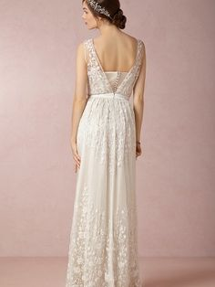 White A-line/Princess V-Ringad Floor-length Chiffong rmlös Wedding Dresses för 6576kr