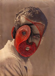 Maurizio Anzeri Embroiders Masks Over Photographs