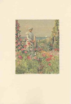 An Island Garden by Celia Thaxter, illustrated by Childe Hassam.  A lovely online book about flowers and gardening.