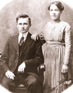 Finland 1915:  My grandparents, Finnish immigrants Olli Laukkanen and Hellena Pulkanen