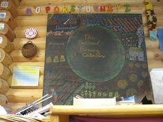 Waldorf ~ grade ~ Farming ~ chalkboard drawing Winter: we shear and weave… Chalk Typography, Vintage Typography, Vintage Logos, Hand Lettering, Chalkboard Drawings, Chalkboard Art, Blackboard Drawing, Third Grade, Grade 3