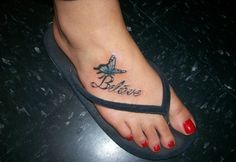 Foot Tattoos Pictures For Women-believe