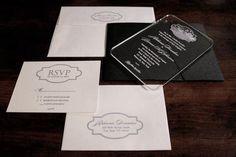 Lucite wedding invitation