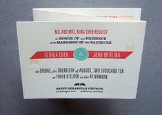 gorgeous tri-fold invitation