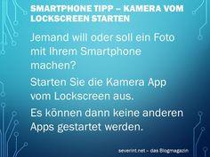 Smartphone Tipp - Kamera vom Lockscreen aus starten