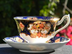 Royal Albert Heirloom Teacup. Wide Mouthed, High Handled Tea Cup and Saucer 1004 by BarnKittyTreasures, $76.00 USD #zibbet