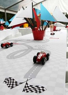 Racecar Birthday Party Tablescape Idea