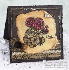Power Poppy Geraniums meet Hemptique Handmade Paper