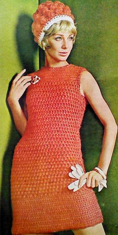 Vintage Crocheted Dress and Hat Pattern by MAMASPATTERNS on Etsy