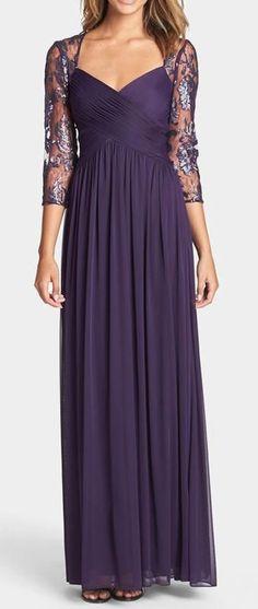 Long Elegant Purple Dress