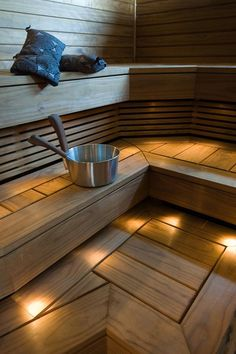 SWM-Wood sauna- ja sisustustuotteet Thermo-D Sauna Lights, Outdoor Sauna, Sauna Design, Finnish Sauna, Sauna Room, Saunas, Home And Living, New Homes, Relax