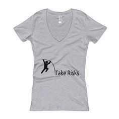 #Entrepreneur life is full of #TakingRisks, when you build yourself up -- you build a whole new path to follow. Think outside the box, take risks & become the best you can be! :)  Get it here :: https://full-stock.com/products/take-risks-womens-v-neck-t-shirt?utm_content=buffera8549&utm_medium=social&utm_source=pinterest.com&utm_campaign=buffer