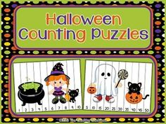 Freebie! Halloween counting fun! 5 puzzles included: Counting by 1's(1-10 & 11-20), 2's, 5's, and 10's.