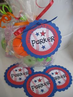End of School Year - Goody Bags - personalized - such a cute idea!