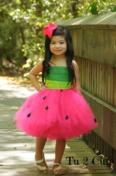 Sweet Watermelon Sugar Tutu Dress on Etsy, $24.00