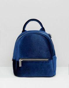 Skinnydip Mini Blue Velvet Backpack