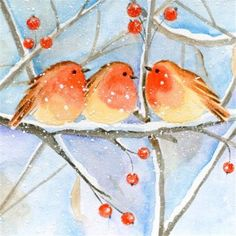 Image Library Designs Original illustrations occasions Christmas greetings cards Christmas Greeting Cards, Christmas Greetings, Library Design, Illustrations, Xmas, Birds, The Originals, Painting, Art