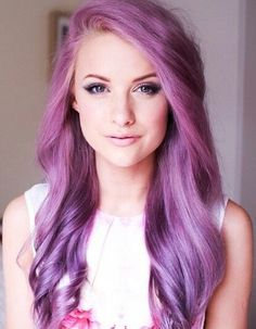 Nice pink to purple ombre hair color~ a new hair inspiration for girls to dye hair purple~