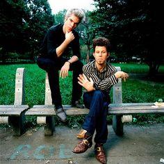 Jim Jarmusch with Tom Waits by Deborah Feingold 1980s