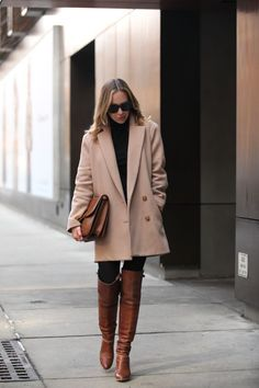 7 Cold-Weather Boots Everyone Should Have – From Luxe With Love 7 Cold-Weather Boots Everyone Should Have Over the knee brown boots with taupe trench coat Winter Chic, Autumn Winter Fashion, Brooklyn Blonde, Over The Knee Boot Outfit, Over The Knee Boots, Winter Boots Outfits, Brown Boots Outfit Winter, Bota Over, Cold Weather Boots