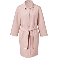 EMILIO PUCCI Blush Belted Wool-Cashmere Coat ($2,280) ❤ liked on Polyvore