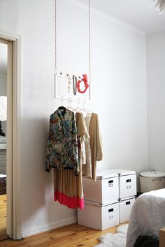 RAW Design blog  //  suspended clothing & accessory rack