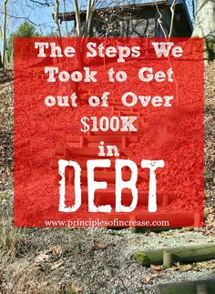 The Steps We Took to Get Out of Over $100K in Debt « Principles of Increase Debt Repayment, Debt Payoff, Budgeting Finances, Budgeting Tips, Ways To Save Money, Money Saving Tips, Money Tips, Paying Off Student Loans, Get Out Of Debt
