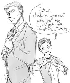 Bruce and Damian oh Damien he's so cute