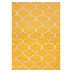 Marigold Flat Weave Wool Rug by