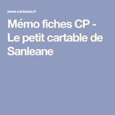 Mémo fiches CP - Le petit cartable de Sanleane