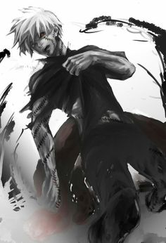 Find images and videos about anime, tokyo ghoul and kaneki on We Heart It - the app to get lost in what you love. Manga Anime, Anime Guys, Anime Art, Ken Kaneki Tokyo Ghoul, Tokyo Ghoul Wallpapers, Anime Merchandise, Anime Costumes, Fan Art, Dark Fantasy