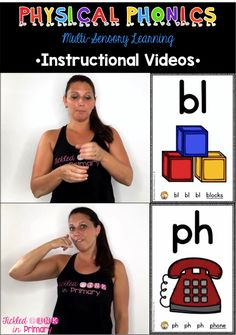 Sound Movement instructional videos - help students learn their blends and digraph sounds while incorporating movement. Students can follow along with the video!