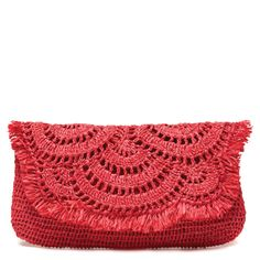 GISELLE, crocheted clutch bag, love the colour!