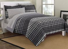 Dream Factory Houndstooth Ultra Soft Microfiber Teen Bedding Comforter Set, Twin, Gray Dream Factory http://www.amazon.com/dp/B00LNLB11M/ref=cm_sw_r_pi_dp_qKXDub1023VKR