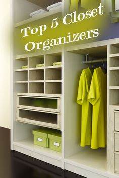 These will make such a different in your usable closet space. Top 5 closet organizers you can't live without.