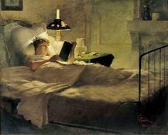 Evening Reading 1884, Georg Pauli