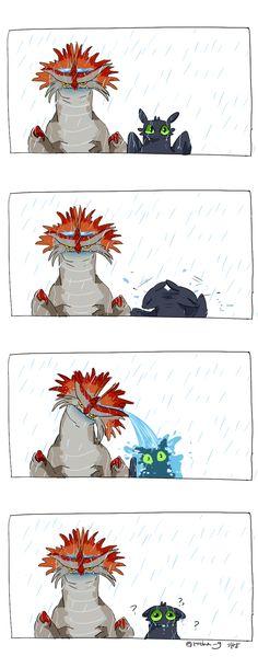 Cloudjumper and Toothless 2 by Ganym0.deviantart.com on @DeviantArt