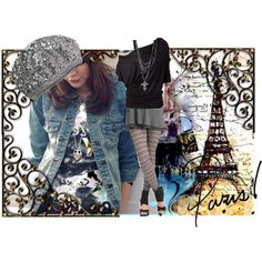 Paris by pwejones on Polyvore featuring polyvore fashion style OrangeBear Forever 21 Amrita Singh