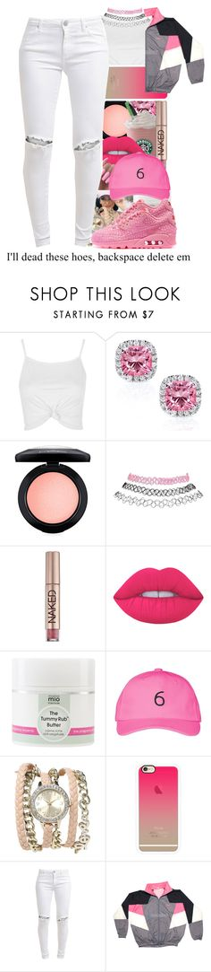 """""""Untitled #373"""" by wma0411 ❤ liked on Polyvore featuring Topshop, Kobelli, MAC Cosmetics, Wet Seal, Urban Decay, Mama Mio, October's Very Own, Casetify, FiveUnits and NIKE"""