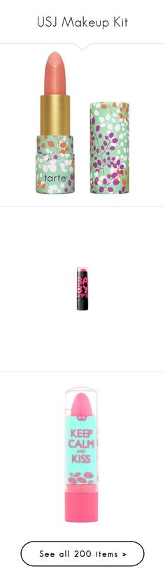 """USJ Makeup Kit"" by mkct ❤ liked on Polyvore featuring beauty products, makeup, lip makeup, lipstick, beauty, lips, cosmetics, fillers, shiny lipstick and moisturizing lipstick"