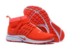 Nike Air Presto Flyknit High Shoes Men APF07 Red