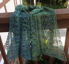 Angel Fish Scarf pattern by Sarah Carriger | malabrigo Sock in Indiecita
