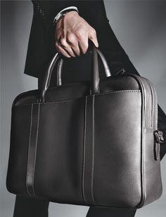 e39cd4bcf8 Bag by Ermenegildo Zegna. Mens Leather Laptop Bag